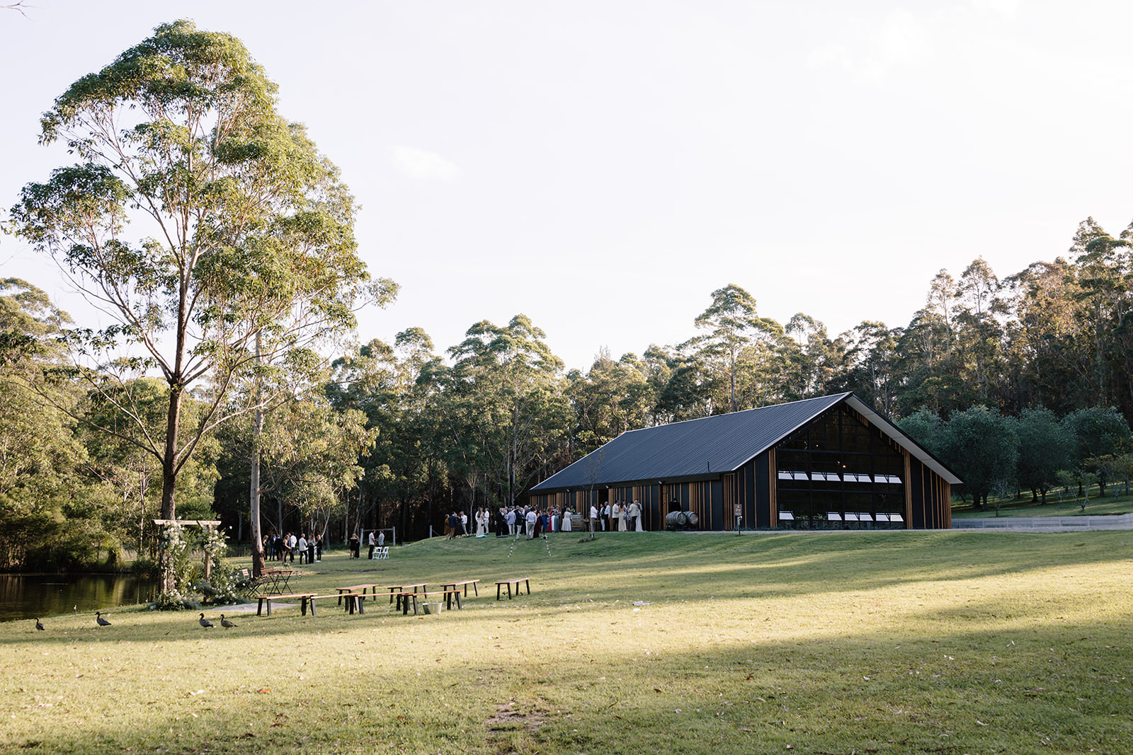 South Coast Wedding Destination featuring wedding barn, outdoor ceremony, wedding accommodation and bush setting