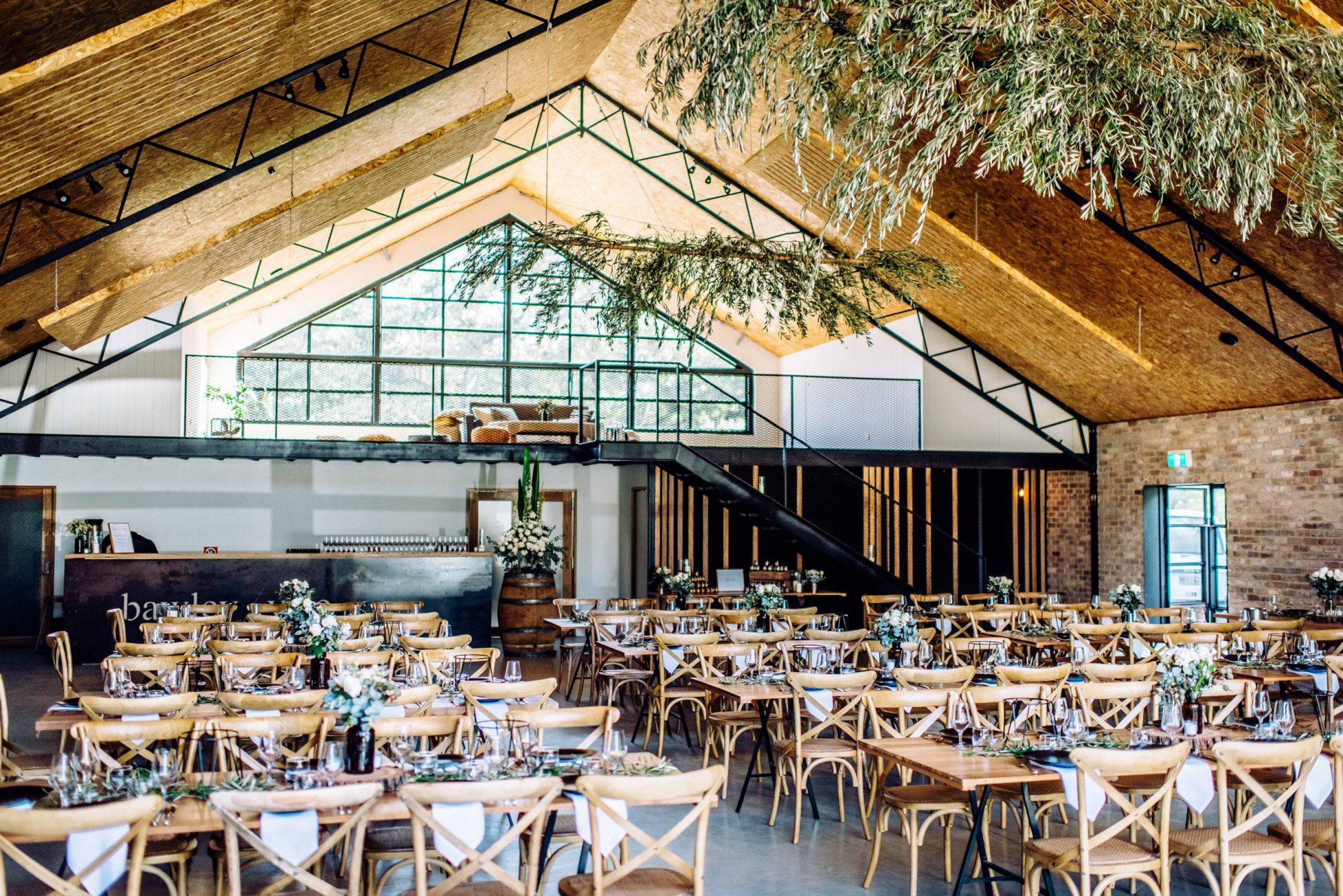 Wedding Barn styled for rustic reception