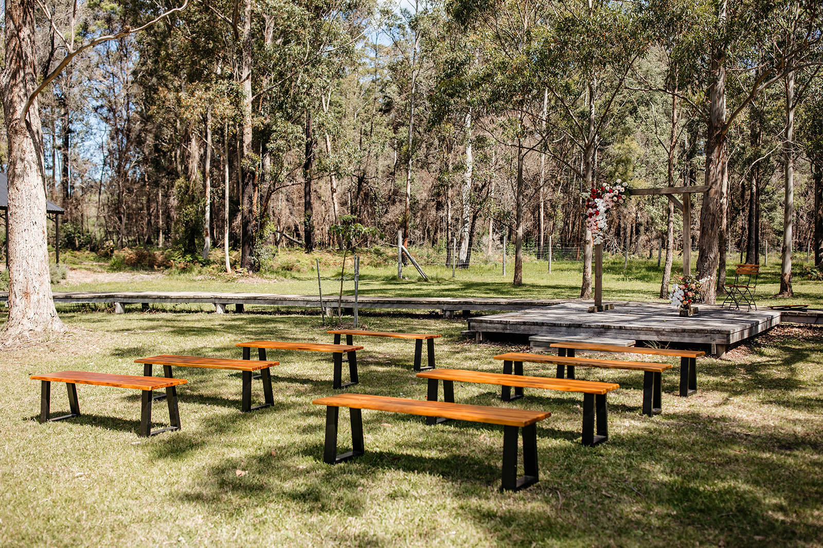 Rustic bush ceremony, South Coast NSW