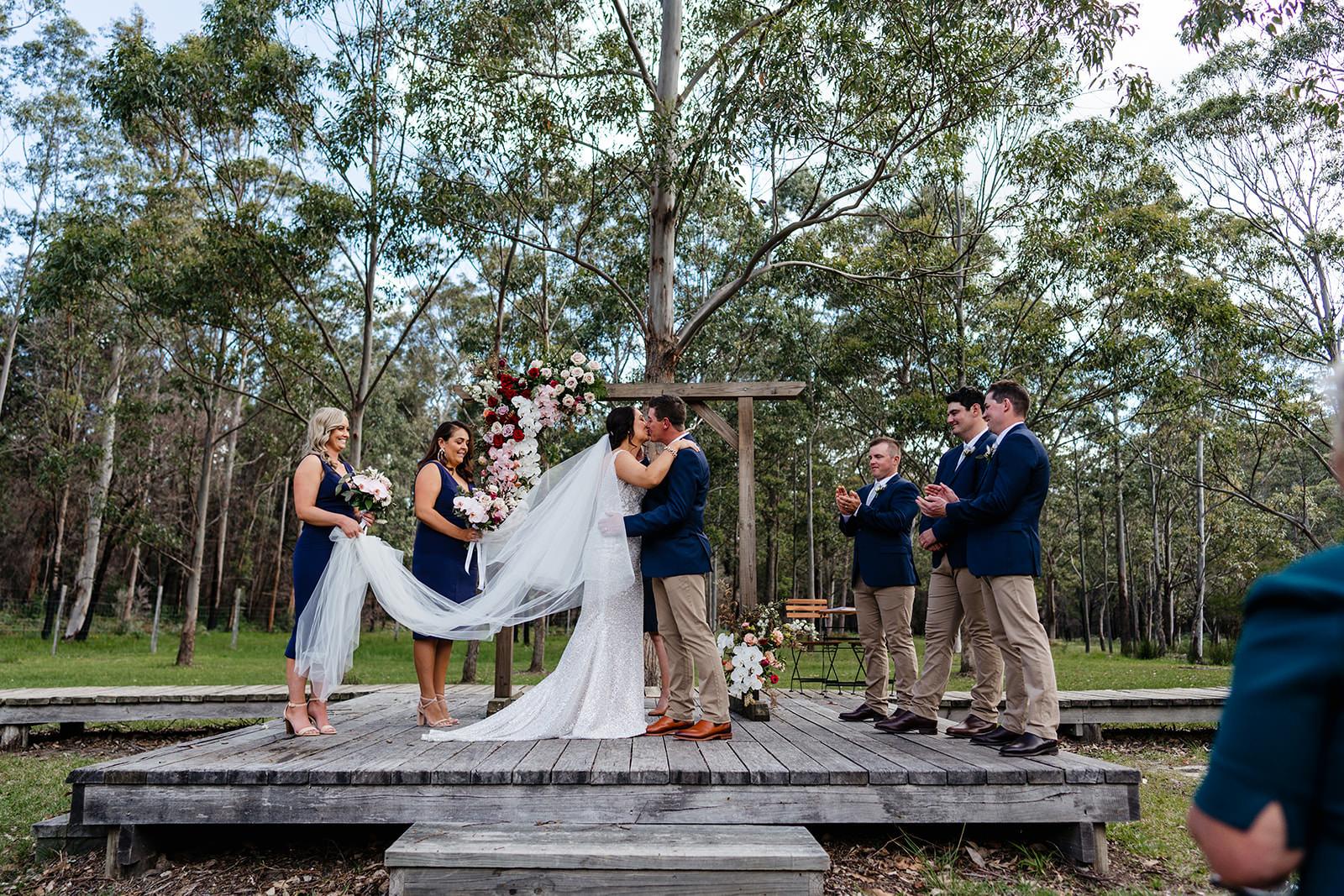 Bush wedding ceremony in Bawley Point, South Coast NSW
