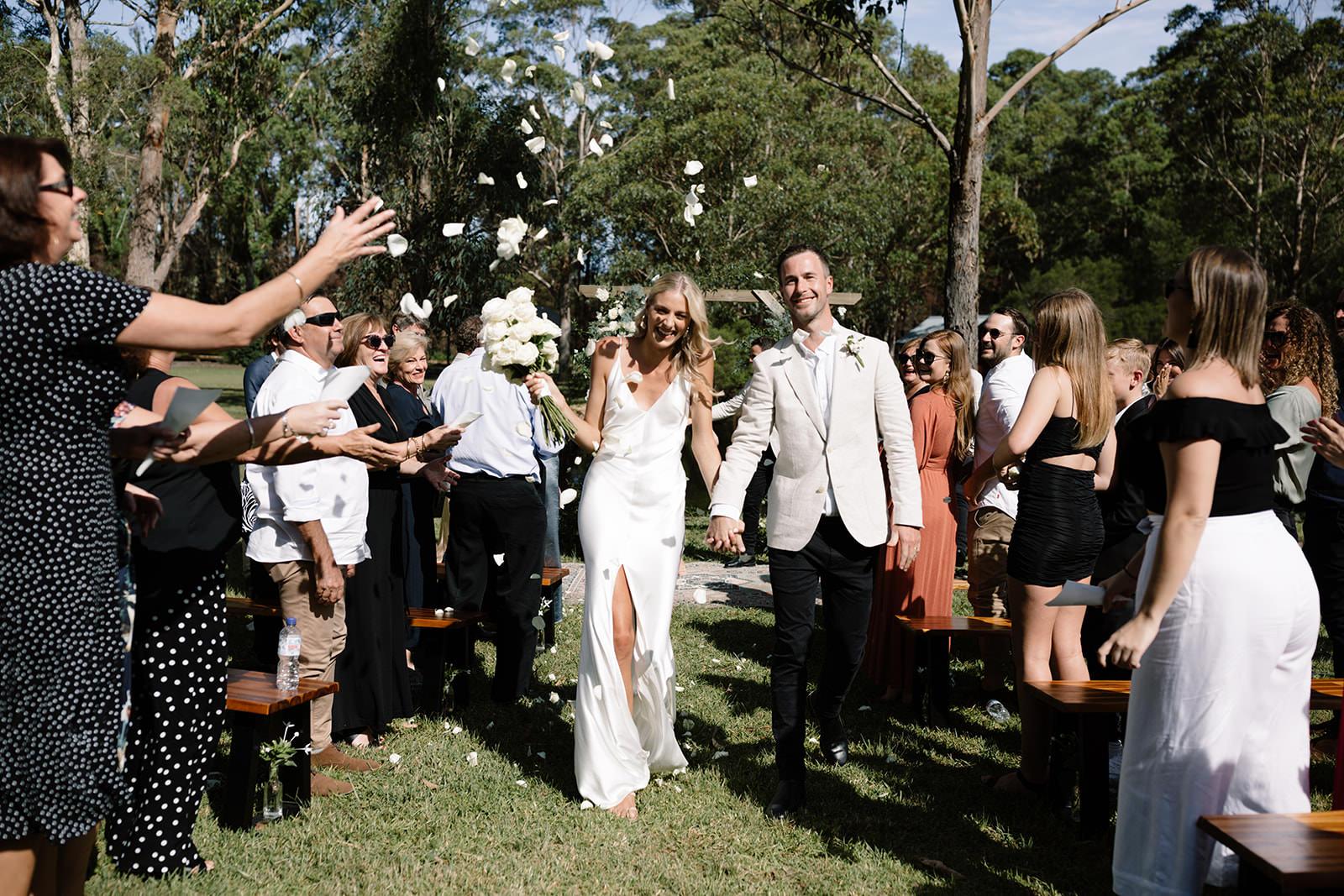 Garden wedding ceremony
